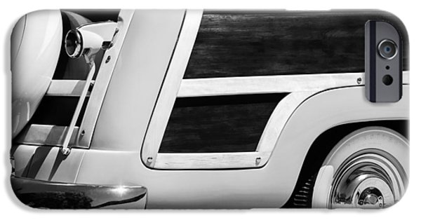 Station Wagon iPhone Cases - 1950 Ford Custom Deluxe Station Wagon Rear End - Woodie iPhone Case by Jill Reger