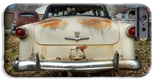 Antique Cars iPhone Cases - 1950 Ford Sedan Rear iPhone Case by Yo Pedro