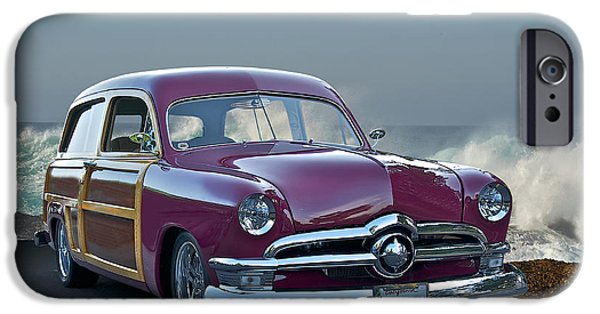 Slam Photographs iPhone Cases - 1950 Ford Surfn Wagon II iPhone Case by Dave Koontz