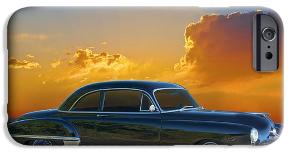 Slam Photographs iPhone Cases - 1950 Oldsmobile Coupe iPhone Case by Dave Koontz