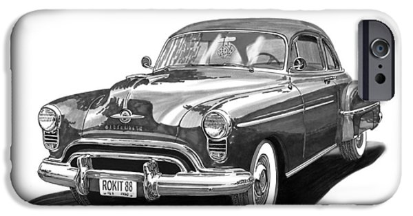 Americans iPhone Cases - 1950 Oldsmobile Rocket 88 iPhone Case by Jack Pumphrey