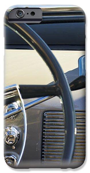 1950 Oldsmobile Rocket 88 Steering Wheel 3 iPhone Case by Jill Reger