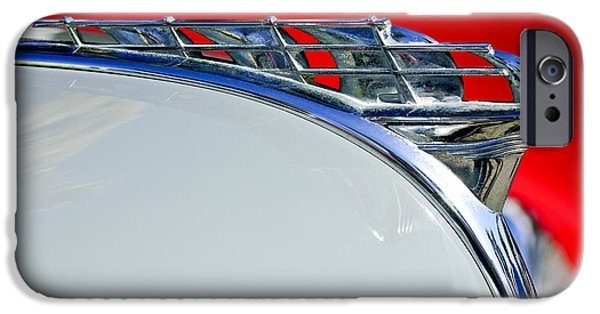 1950 iPhone Cases - 1950 Plymouth Hood Ornament 3 iPhone Case by Jill Reger