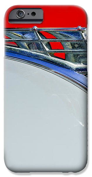 1950 Plymouth Hood Ornament 3 iPhone Case by Jill Reger