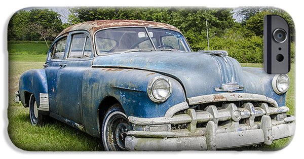 Rust iPhone Cases - 1950 - Pontiac Chiefton iPhone Case by Bill Cannon