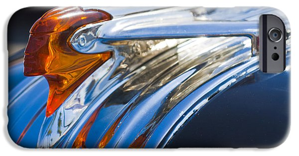 1950 iPhone Cases - 1950 Pontiac Silver Streak Hood Ornament iPhone Case by Jill Reger