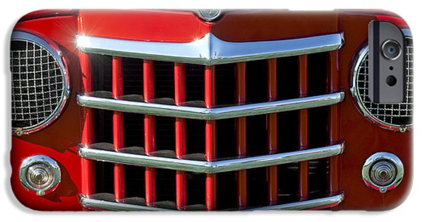 1950 iPhone Cases - 1950 Willys Jeepster Gtille iPhone Case by Jill Reger