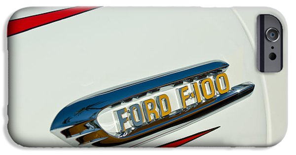 1950 iPhone Cases - 1950s Ford F-100 Fordomatic Pickup Truck Emblem iPhone Case by Jill Reger