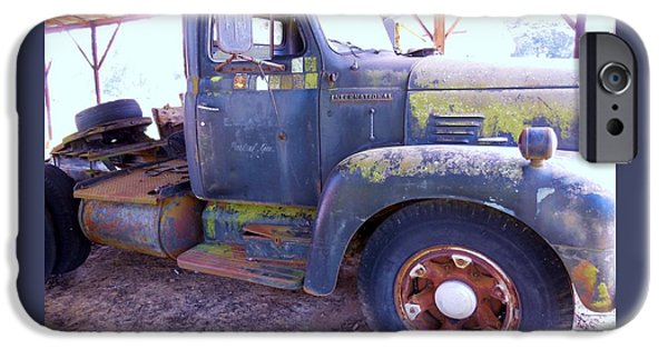 Agriculture iPhone Cases - 1950s International Truck iPhone Case by Eloise Schneider