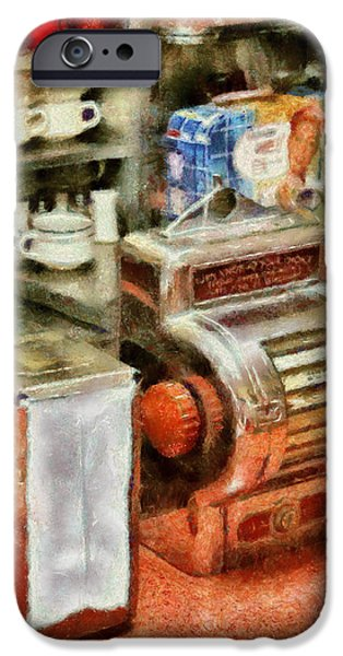 Waiter Photographs iPhone Cases - 1950s - The Greasy Spoon iPhone Case by Mike Savad