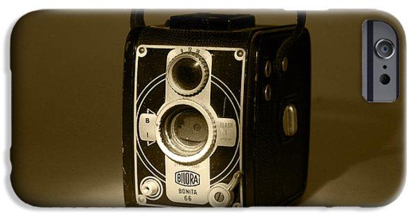 Technology iPhone Cases - 1951 Bilora Bonita 66 Camera iPhone Case by John Turner