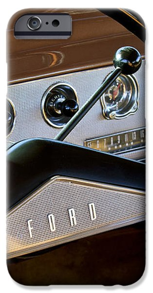 1951 Ford Crestliner Steering Wheel iPhone Case by Jill Reger