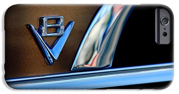 V8 iPhone Cases - 1951 Ford Crestliner V8 Emblem iPhone Case by Jill Reger