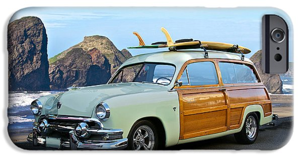Slam Photographs iPhone Cases - 1951 Ford Woody Wagon iPhone Case by Dave Koontz