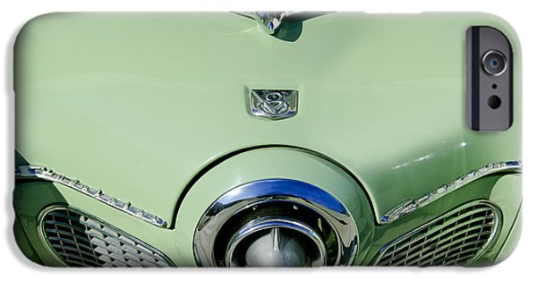 Historic Vehicle iPhone Cases - 1951 Studebaker Commander Hood Ornament 2 iPhone Case by Jill Reger