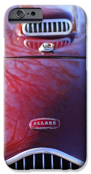 1952 iPhone Cases - 1952 Allard K2 Factory Special Roadster Grille Emblem iPhone Case by Jill Reger