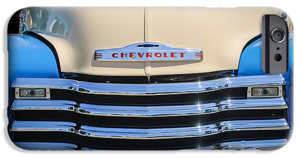 1952 iPhone Cases - 1952 Chevrolet Pickup Truck Grille Emblem iPhone Case by Jill Reger