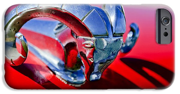 1952 iPhone Cases - 1952 Dodge Ram Hood Ornament 2 iPhone Case by Jill Reger
