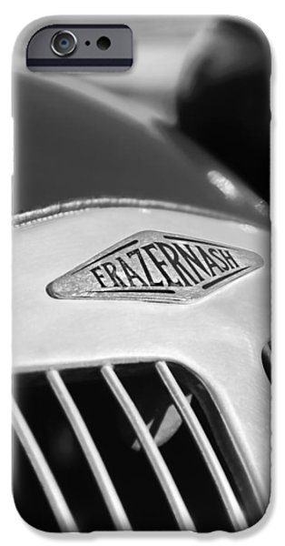 1952 iPhone Cases - 1952 Frazer-Nash Le Mans Replica MkII Competition Model Grille Emblem iPhone Case by Jill Reger