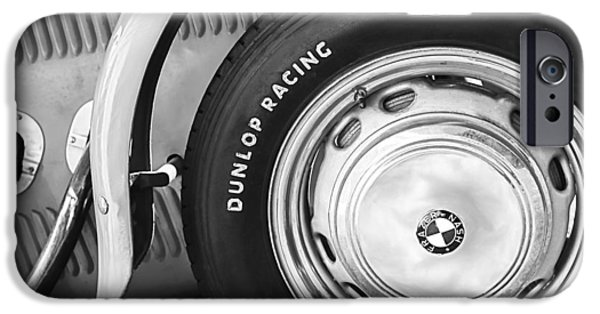 Replica iPhone Cases - 1952 Frazer-Nash Le Mans Replica MkII Competition Model Tire Emblem iPhone Case by Jill Reger