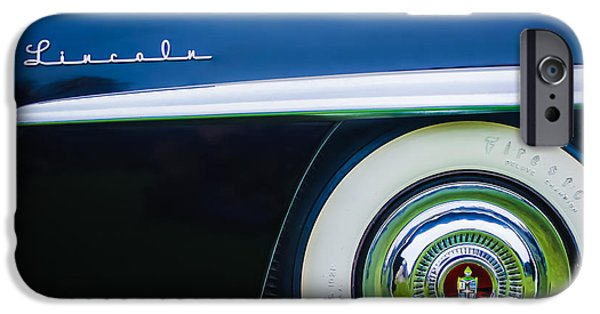 1952 iPhone Cases - 1952 Lincoln Derham Town Wheel Emblem -0416c iPhone Case by Jill Reger