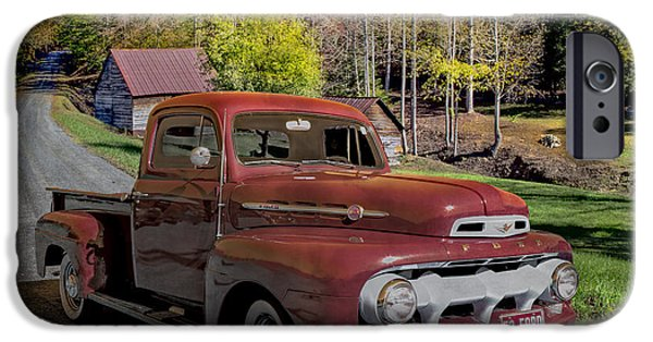 Rebuilt iPhone Cases - 1952 Red Ford Truck iPhone Case by Debra and Dave Vanderlaan