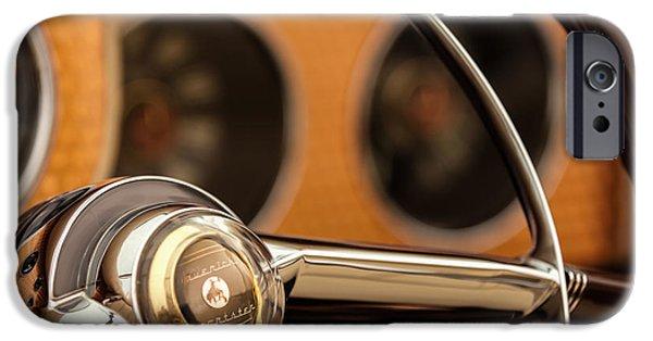 Sterling iPhone Cases - 1952 Sterling Gladwin Maverick Sportster Steering Wheel Emblem -1848c iPhone Case by Jill Reger
