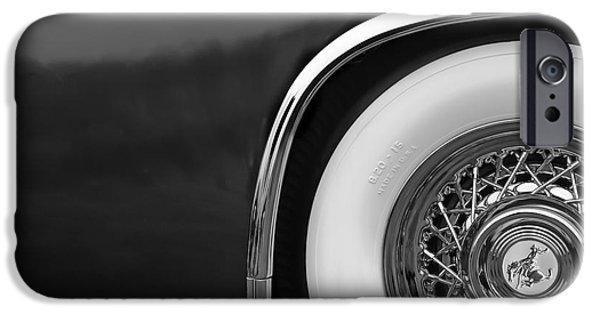 Sterling iPhone Cases - 1952 Sterling Gladwin Maverick Sportster Wheel Emblem - 0321bw iPhone Case by Jill Reger