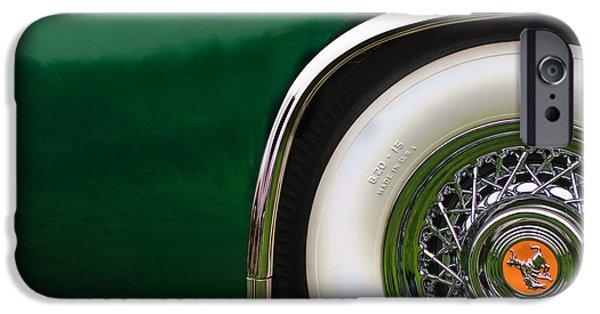 Sterling iPhone Cases - 1952 Sterling Gladwin Maverick Sportster Wheel Emblem -0321c iPhone Case by Jill Reger