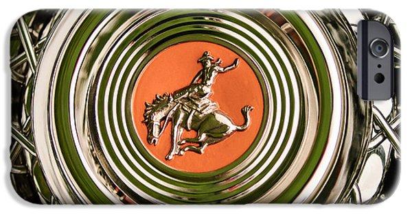 Sterling iPhone Cases - 1952 Sterling Gladwin Maverick Sportster Wheel Emblem - 1720c iPhone Case by Jill Reger