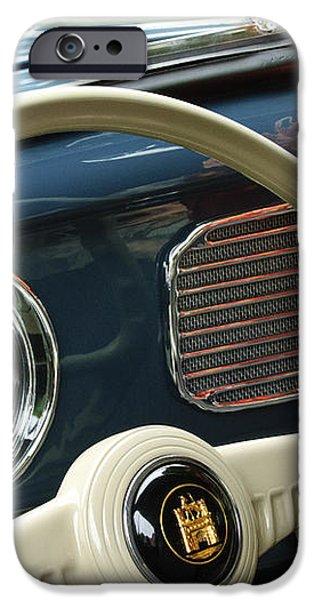 1952 Volkswagen VW Bug Steering Wheel iPhone Case by Jill Reger