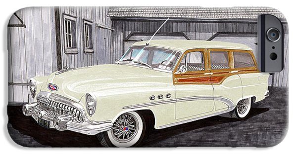 Electrical iPhone Cases - 1953 Buick Estate Wagon Woody iPhone Case by Jack Pumphrey