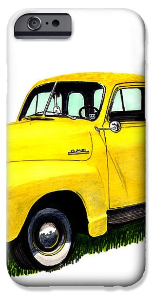 1953 G M C 5-Window Pick-up iPhone Case by Jack Pumphrey