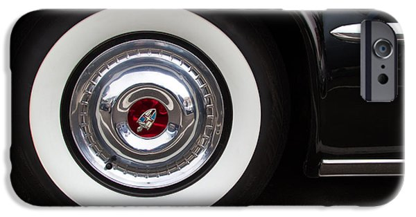 Lincoln iPhone Cases - 1953 Lincoln Capri Hub Cap iPhone Case by Roger Mullenhour