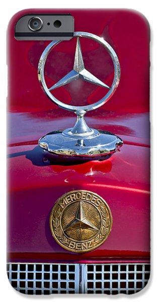 1953 Mercedes Benz Hood Ornament iPhone Case by Jill Reger