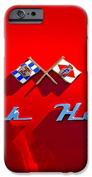 1953 Nash-Healey Roadster Emblem iPhone Case by Jill Reger