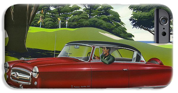 Airbrush iPhone Cases - 1953 Nash Rambler - Square format Image Picture iPhone Case by Walt Curlee