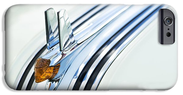 Fifties iPhone Cases - 1953 Pontiac Chieftain Hood Ornament iPhone Case by Tim Gainey