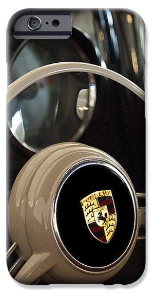 1954 Porsche 356 Bent-Window Coupe Steering Wheel Emblem iPhone Case by Jill Reger