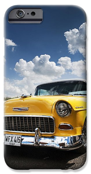 Tim Gainey iPhone Cases - 1955 Chevrolet iPhone Case by Tim Gainey