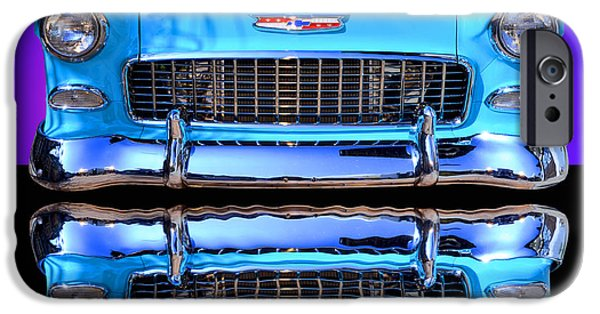 Cars iPhone Cases - 1955 Chevy Bel Air iPhone Case by Jim Carrell