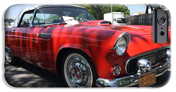 Automotive iPhone Cases - 1955 Ford Thunderbird Convertible iPhone Case by John Telfer