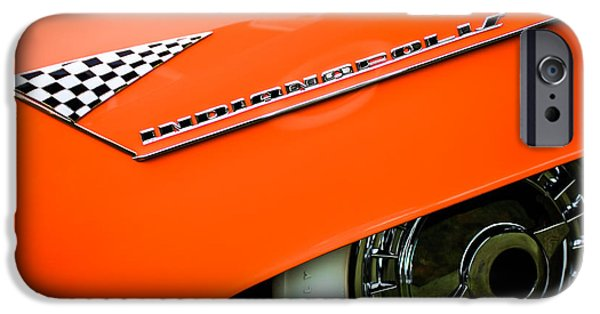 Lincoln iPhone Cases - 1955 Lincoln Indianapolis Boano Coupe Emblem -0295c iPhone Case by Jill Reger
