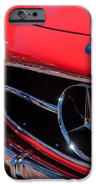 1955 Mercedes-Benz 300SL GullWing Grille Emblems iPhone Case by Jill Reger