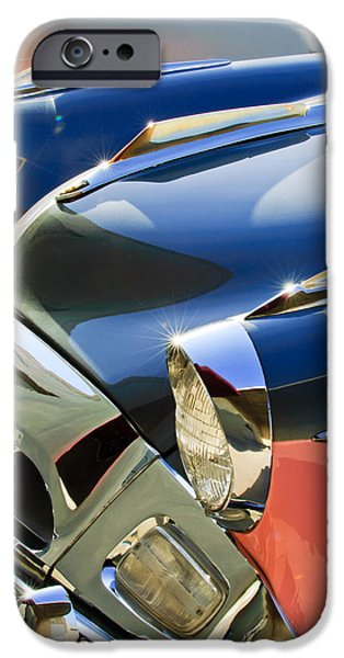 President iPhone Cases - 1955 Studebaker President Front End iPhone Case by Jill Reger