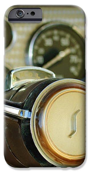 1955 Studebaker President Steering Wheel Emblem iPhone Case by Jill Reger