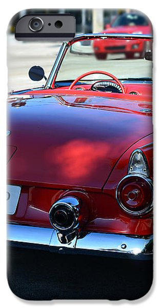 1955 t-bird iPhone Case by Laura  Fasulo