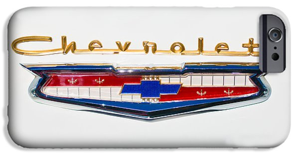 1956 iPhone Cases - 1956 Chevrolet 210 Emblem iPhone Case by Jill Reger