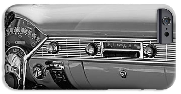 1956 iPhone Cases - 1956 Chevrolet Belair Convertible Custom V8 Dashboard iPhone Case by Jill Reger