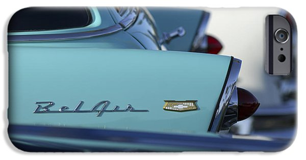 Vintage Car iPhone Cases - 1956 Chevrolet Belair Nomad Rear End iPhone Case by Jill Reger